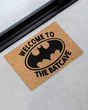 """Welcome to the batcave doormat Doormat 22.5"""" x 15""""  aos-doormat-22-5x15-lifestyle-front-09"""