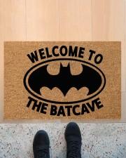 """Welcome to the batcave doormat Doormat 22.5"""" x 15""""  aos-doormat-22-5x15-lifestyle-front-10"""