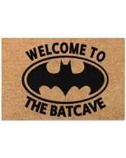 """Welcome to the batcave doormat Doormat 22.5"""" x 15""""  front"""