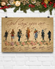 Running woman god says you are poster 24x16 Poster aos-poster-landscape-24x16-lifestyle-29