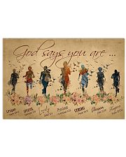 Running woman god says you are poster 24x16 Poster front