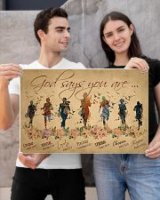 Running woman god says you are poster 24x16 Poster poster-landscape-24x16-lifestyle-21