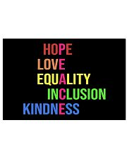 Peace hope love equality inclusion kind yard sign 17x11 Poster thumbnail