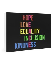 Peace hope love equality inclusion kind yard sign 24x16 Gallery Wrapped Canvas Prints thumbnail