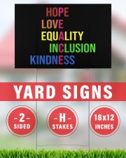 Peace hope love equality inclusion kind yard sign 18x12 Yard Sign aos-yard-sign-18x12-lifestyle-front-30
