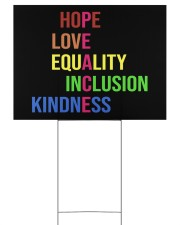Peace hope love equality inclusion kind yard sign Yard Signs tile