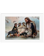God surrounded by Rottweiler angels Poster 24x16 Poster front