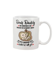 Dear daddy this christmas i'll be snuggled up mug Mug front