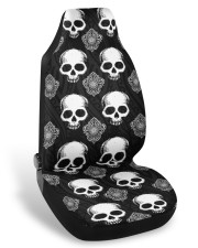 Goth skull car seat covers Car Seat Covers front