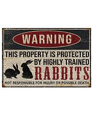 Rabbits warning this property is protected poster 24x16 Poster front