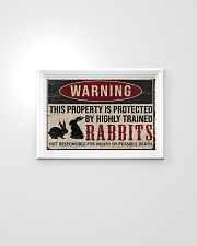 Rabbits warning this property is protected poster 24x16 Poster poster-landscape-24x16-lifestyle-02
