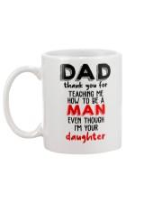 Dad thank you for teaching me how to be a man mug Mug back