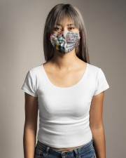 She has the soul of a gypsy the heart of a hippie Cloth Face Mask - 3 Pack aos-face-mask-lifestyle-15