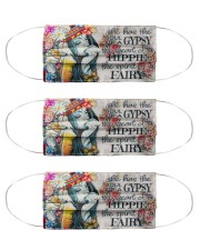 She has the soul of a gypsy the heart of a hippie Cloth Face Mask - 3 Pack front