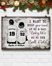 Baseball I want to hold your hand at 80 poster 24x16 Poster aos-poster-landscape-24x16-lifestyle-29