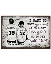 Baseball I want to hold your hand at 80 poster 24x16 Poster front