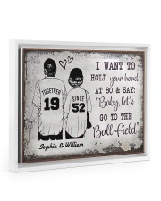 Baseball I want to hold your hand at 80 poster Floating Framed Canvas Prints White tile