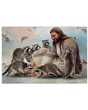 God surrounded by Raccoon Poster 24x16 Poster front