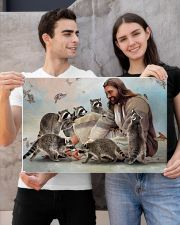 God surrounded by Raccoon Poster 24x16 Poster poster-landscape-24x16-lifestyle-21
