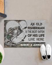 """Fishing an old fisherman doormat Doormat 22.5"""" x 15""""  aos-doormat-22-5x15-lifestyle-front-07"""