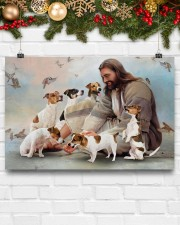God surrounded by Jack Russell Poster 24x16 Poster aos-poster-landscape-24x16-lifestyle-29