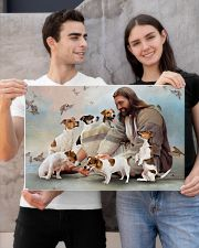 God surrounded by Jack Russell Poster 24x16 Poster poster-landscape-24x16-lifestyle-21