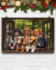 Dachshund window 3d poster 24x16 Poster aos-poster-landscape-24x16-lifestyle-29