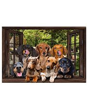 Dachshund window 3d poster 24x16 Poster front