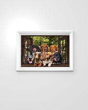 Dachshund window 3d poster 24x16 Poster poster-landscape-24x16-lifestyle-02