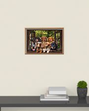 Dachshund window 3d poster 24x16 Poster poster-landscape-24x16-lifestyle-09