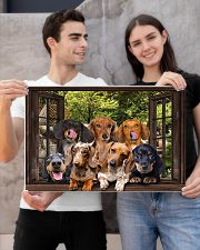 Dachshund window 3d poster 24x16 Poster poster-landscape-24x16-lifestyle-21