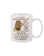 Lion To my dear Son-In-Law I didn't give you mug Mug front