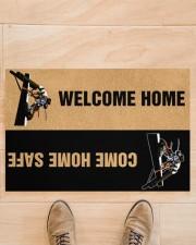 """Lineman Welcome home come home safe doormat Doormat 22.5"""" x 15""""  aos-doormat-22-5x15-lifestyle-front-02"""