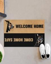 """Lineman Welcome home come home safe doormat Doormat 22.5"""" x 15""""  aos-doormat-22-5x15-lifestyle-front-07"""