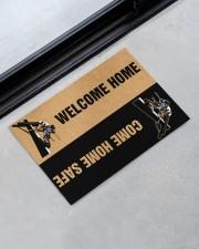 """Lineman Welcome home come home safe doormat Doormat 22.5"""" x 15""""  aos-doormat-22-5x15-lifestyle-front-09"""