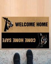 """Lineman Welcome home come home safe doormat Doormat 22.5"""" x 15""""  aos-doormat-22-5x15-lifestyle-front-10"""