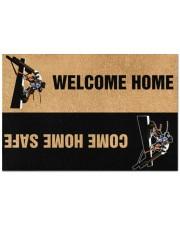 """Lineman Welcome home come home safe doormat Doormat 22.5"""" x 15""""  front"""