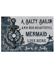 A salty sailor and his beautiful mermaid poster 24x16 Poster front