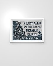 A salty sailor and his beautiful mermaid poster 24x16 Poster poster-landscape-24x16-lifestyle-02