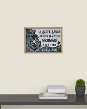 A salty sailor and his beautiful mermaid poster 24x16 Poster poster-landscape-24x16-lifestyle-09