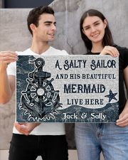A salty sailor and his beautiful mermaid poster 24x16 Poster poster-landscape-24x16-lifestyle-21