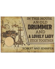 """Drummer and a lovely lady doormat Doormat 22.5"""" x 15""""  front"""