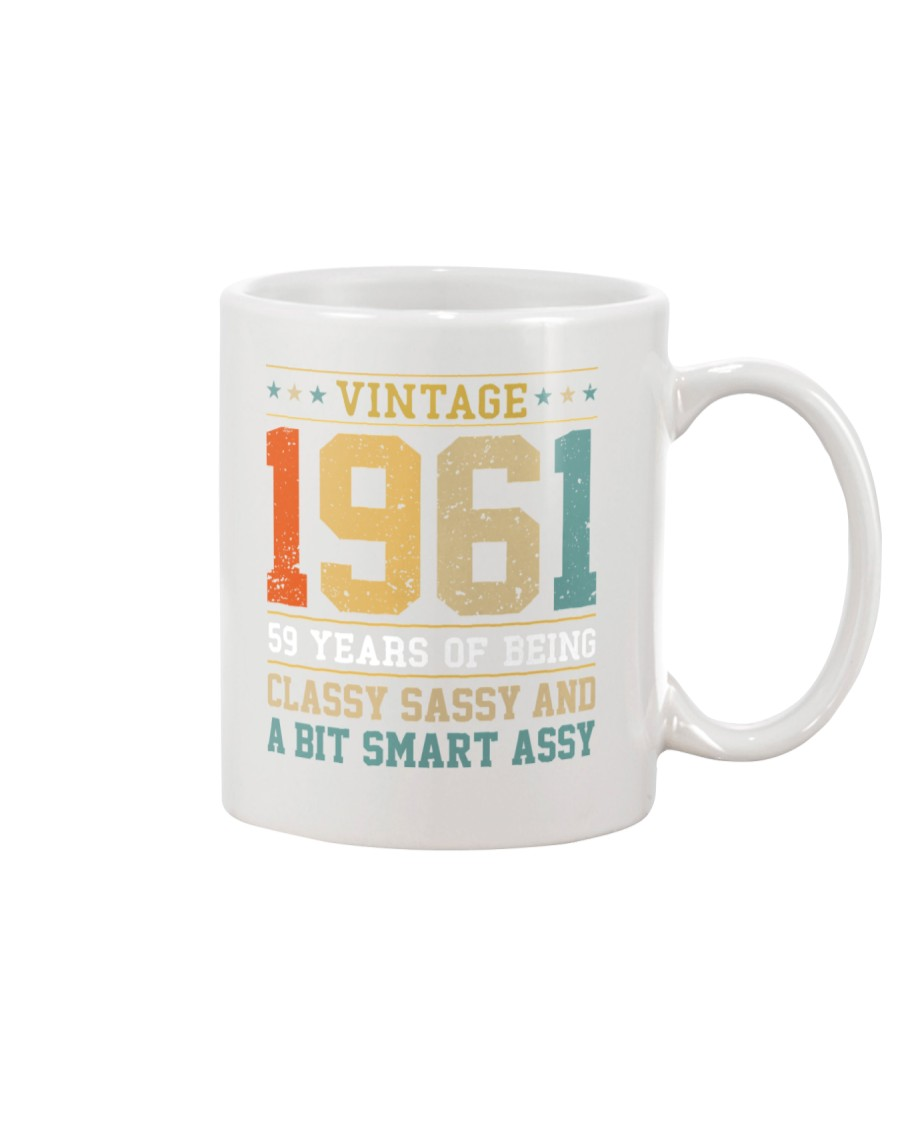 Vintage 1961 59 years of being classy sassy Mug