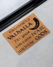 "Vikings welcome to valhalla fill your horn doormat Doormat 22.5"" x 15""  aos-doormat-22-5x15-lifestyle-front-09"