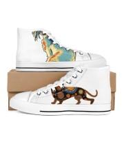 test 1 Men's High Top White Shoes thumbnail