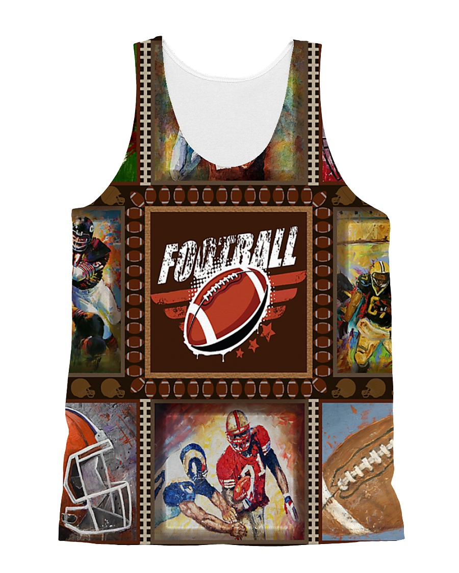 FOOTBALL  H1602 3 All-over Unisex Tank