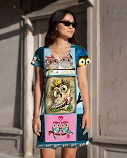 OWL H2202 1 All-over Dress aos-dress-front-lifestyle-1