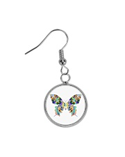 Glowing butterflies Circle Earrings thumbnail