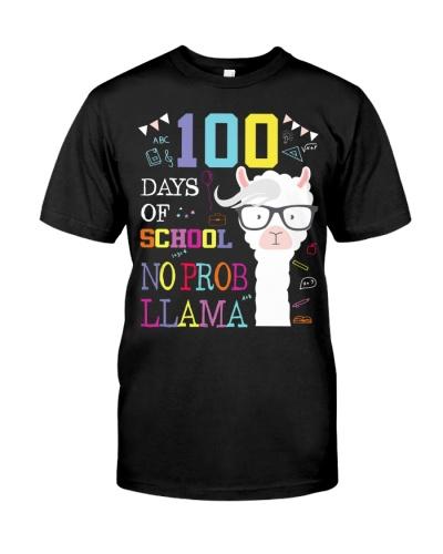 I survived 100 days of school no prob llama