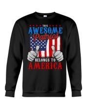 This Awesome Patriot Belongs to America Crewneck Sweatshirt thumbnail